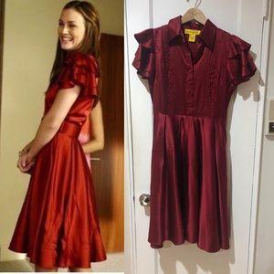 Catherine Malandrino red silk dress Gossip Girl 6